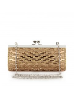 H0590B GOLD GLASS TILE CLUTCH Please Click the image for more information.