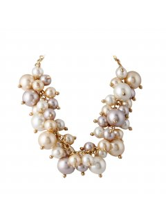10718 MULTI BEAD CHOKER CREAMMOCHACHAMPAGNE Please Click the image for more information.