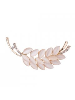 BR0129 MOTHER OF PEARL LEAF BROOCH Please Click the image for more information.