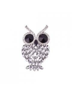 BR0132 CRYSTAL OWL BROOCH Please Click the image for more information.