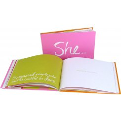 'She...' Inspiration Book Celebrate the number woman in your life with this treasured gift book filled with unforgettable testimonies to the strength beauty and tenderness. Please Click the image for more information.