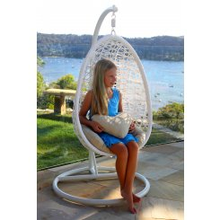Kid's Pod Chair MANAGERS SPECIAL INTRODUCTORY PRICE OFFER Normally $349  NOW $299OFFER VALID FOR A LIMITED TIME ONLYSeaweed and Sand ExclusiveThe popular Island Dream Pod Chair has been replicated and specially designed for children This kids pod chair is perfect for children up to ten years of age weight limit 100kgThis fantastic price includ. Please Click the image for more information.