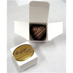 White box - 1 chocolate $2.50 Contains chocolate of your choice See The Menu Please indicate your choice in the CARD MESSAGE box which is situated at Step 2 of the order processClick. Please Click the image for more information.