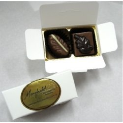 White box - 2 chocolates $4.90 Contains 2 chocolates of your choice See The Menu Please indicate your choice in the CARD MESSAGE box which is situated at Step 2 of the order processClick. Please Click the image for more information.