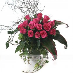La Bonne Maison (pink roses)  Priced from $ 195  Click for more details